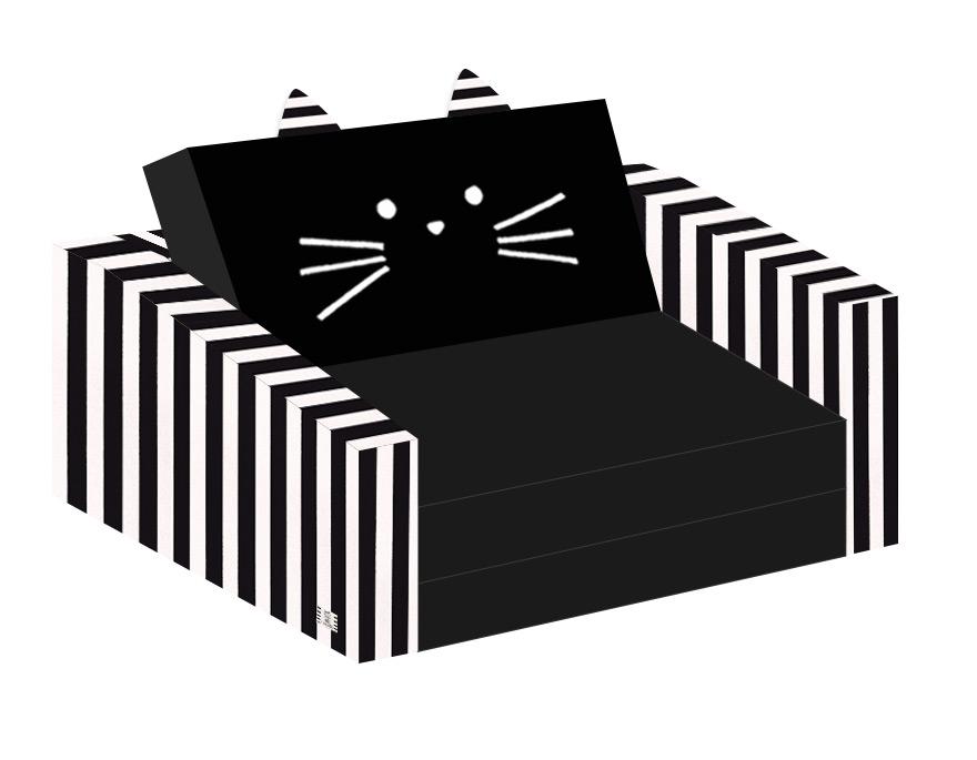 ספה לילדים חתול שחור לבן