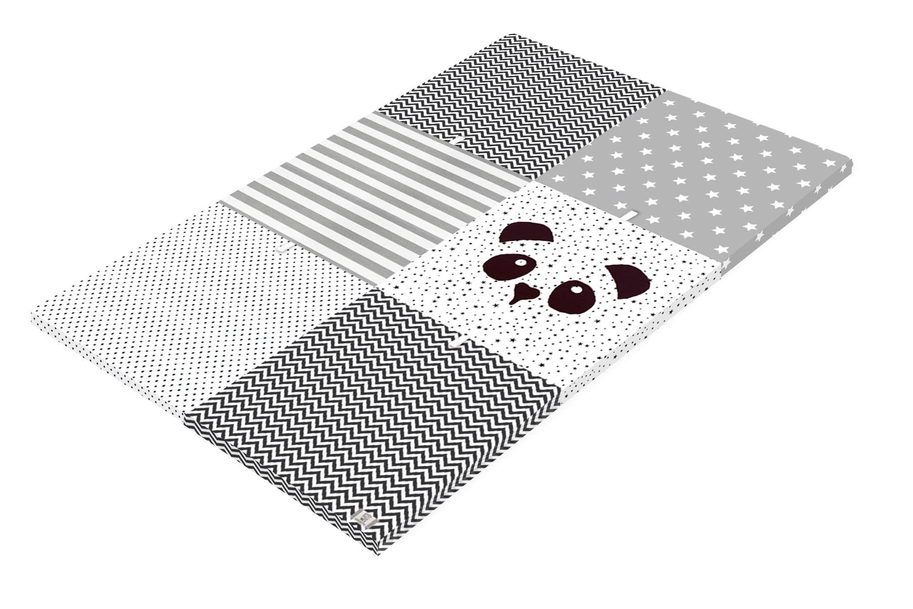 משטח פעילות לתינוק- דגם פנדה לבן שחור  - קטן