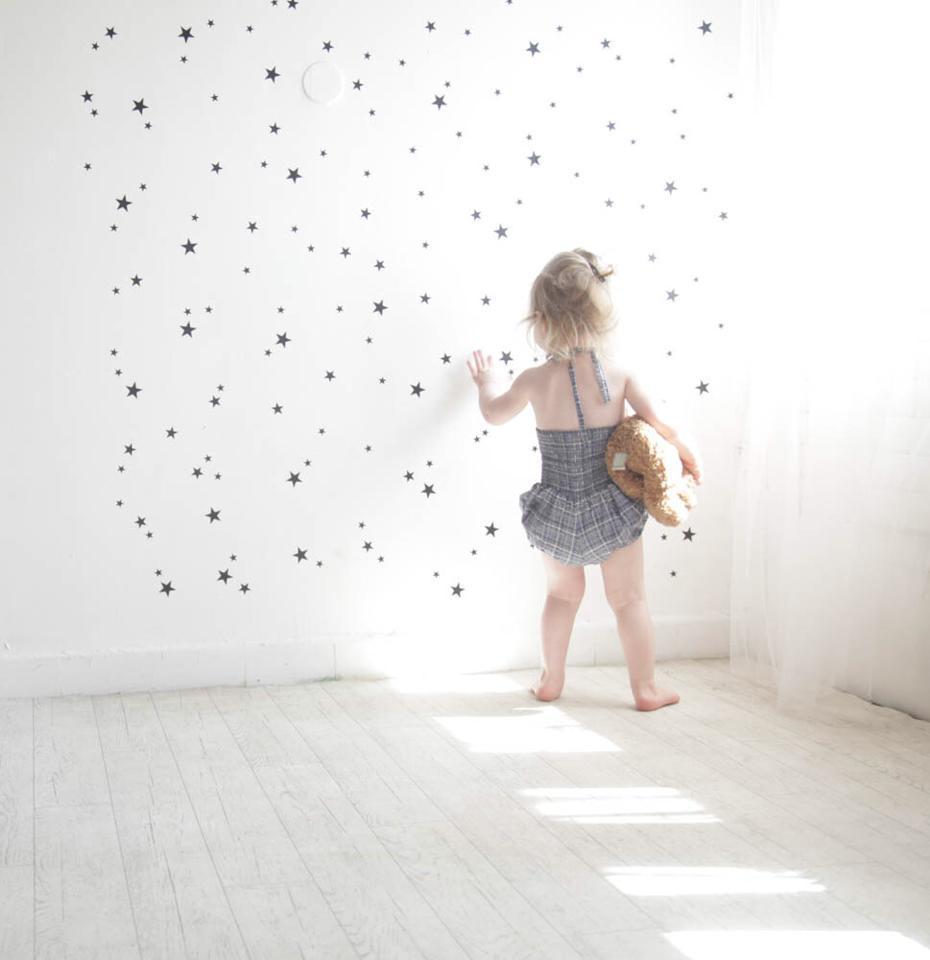 מדבקות קיר לחדרי ילדים כוכבים שחור