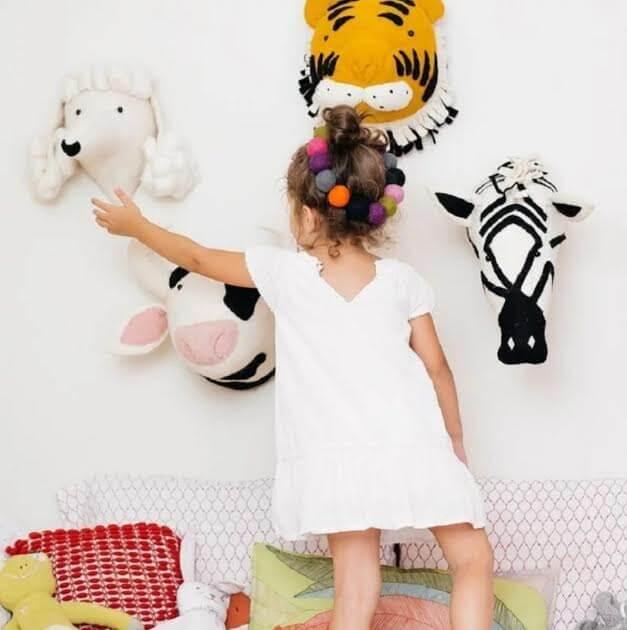 ראש בובה לעיצוב חדר ילדים דגם ראש שועל דקורטיבי אקססוריז עיצוב חדר ילדים