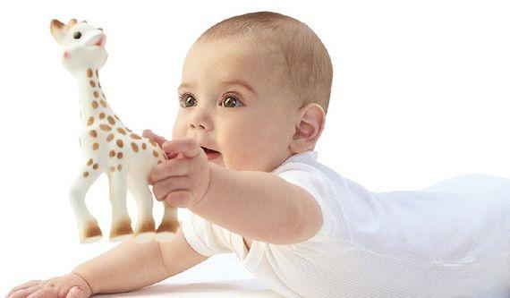 נשכן לתינוק דגם גירפה מגומי