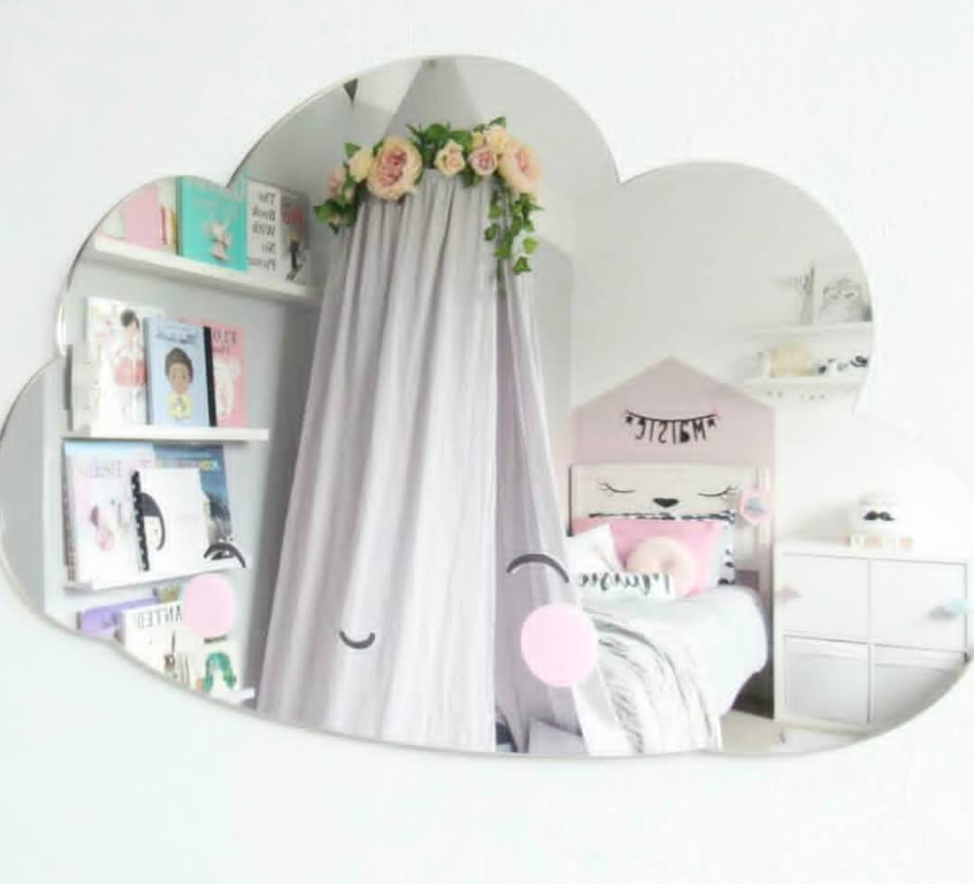 מראה לחדר ילדים מראה לעיצוב חדר הילדים אקססוריז עיצוב חדר ילדים מראה בצורת  ענן