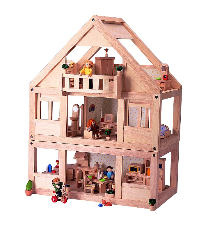 בית בובות מעץ  לילדים