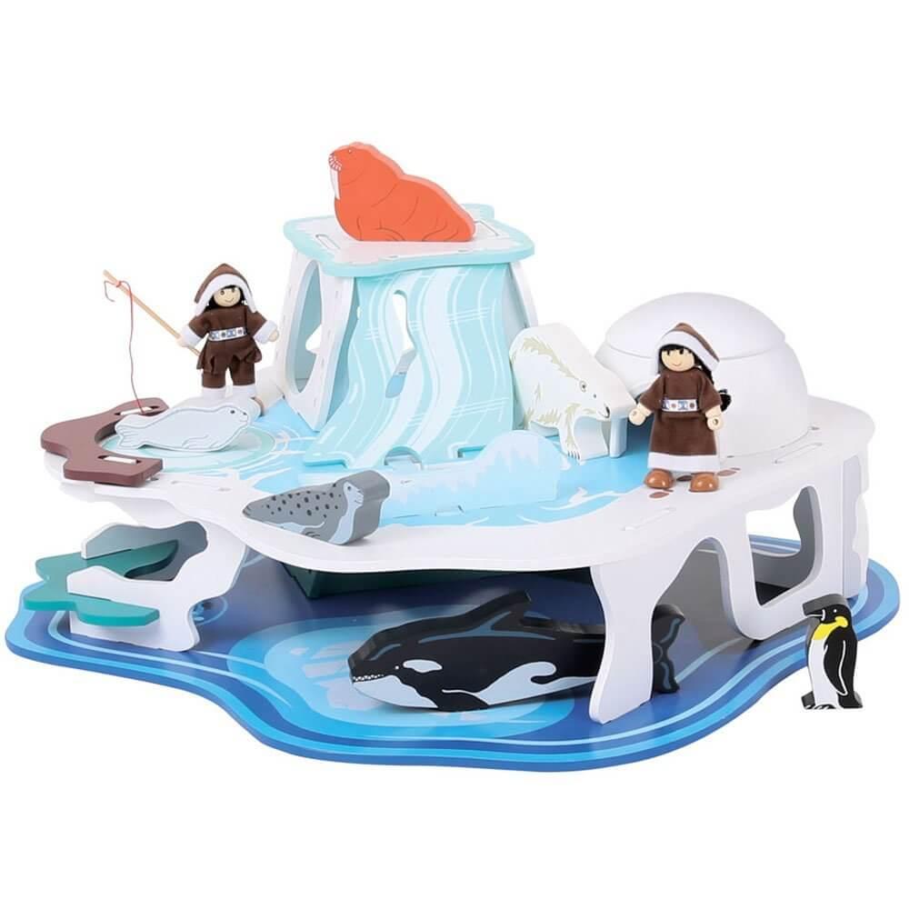 משחק עץ לילדים קרחון קוטב