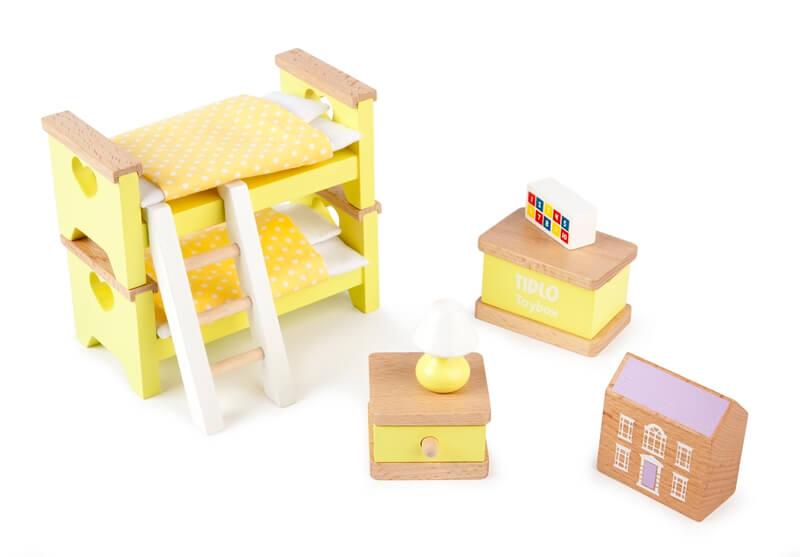 חדר שינה ילדים לבית בובות