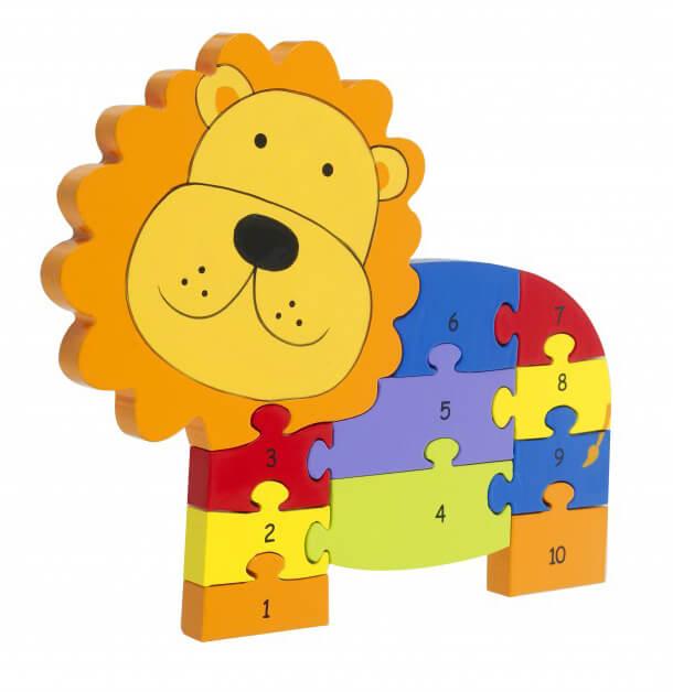 פאזל מספרים מעץ אריה