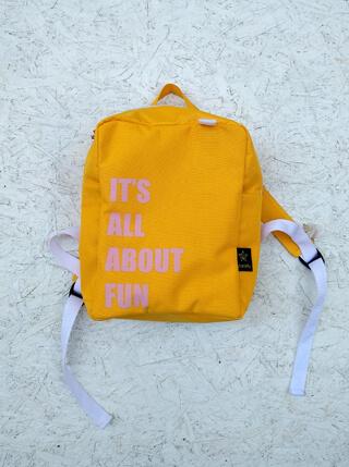 תיק גן צהוב לילדים