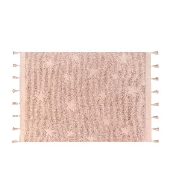 שטיח לחדר ילדים דגם כוכבים ורוד