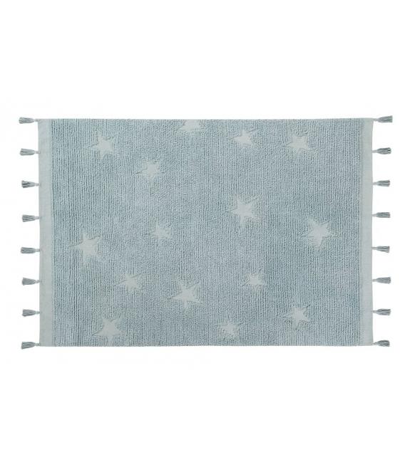 שטיח לחדר ילדים דגם כוכבים תכלת
