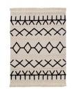 שטיח לחדר ילדים דגם אתני שחור לבן