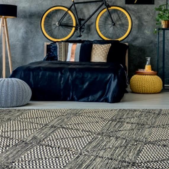 שטיח לחדר ילדים דגם אתני אבן / אפור