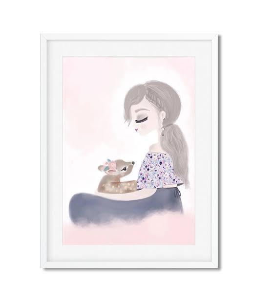 תמונה לחדר ילדות נסיכה עם במבי