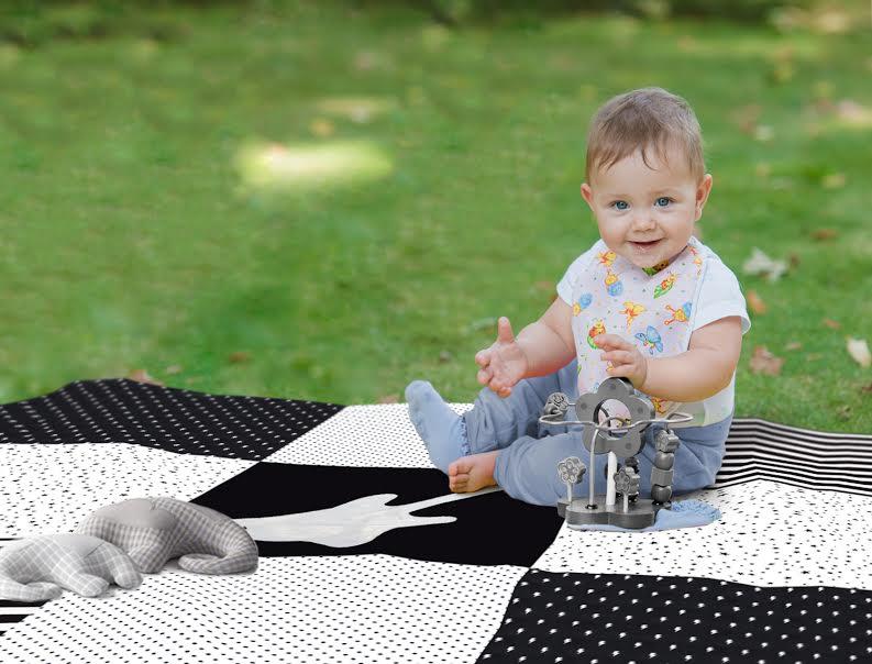 שמיכת פיקניק לתינוק דגם גיטרה