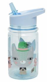 בקבוק שתיה לילדים  תכלת חתול