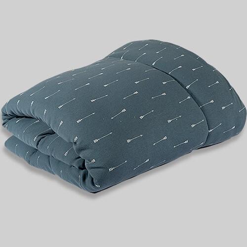 שמיכה לתינוק דגם חיצים כחול