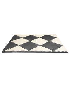 משטח פעילות סול של סקיפ הופ שחור לבן