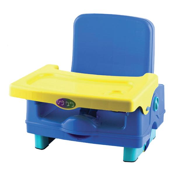 כיסא הגבהה לכיסא כחול-צהוב