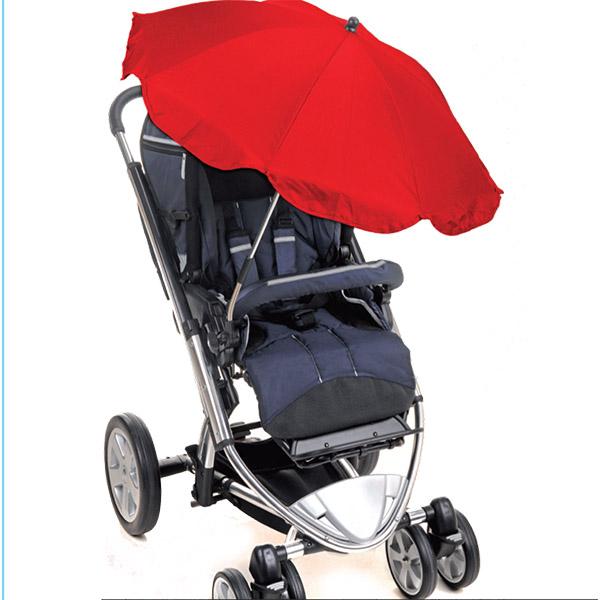 מטריה לעגלה עם מסנני קרינה UV (אדום)