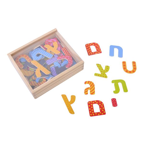 קופסת אותיות מגנטיות צבעוניות  54 יח'