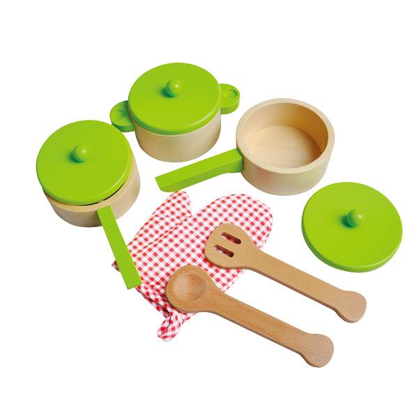סט כלי מטבח ירוק