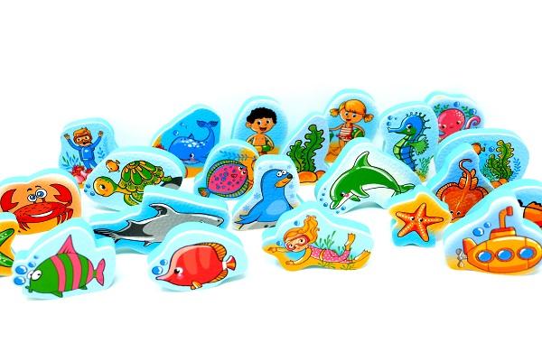 משחקי מים ושלוחן - עולם הים