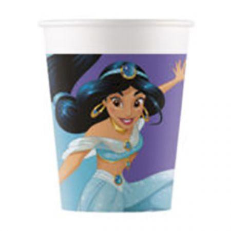 כוסות נייר 8 יח נסיכות - דגם חלומות בהקיץ