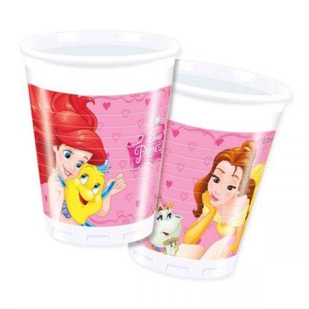 כוסות פלסטיק 200 מל 8 יחידות - נסיכות