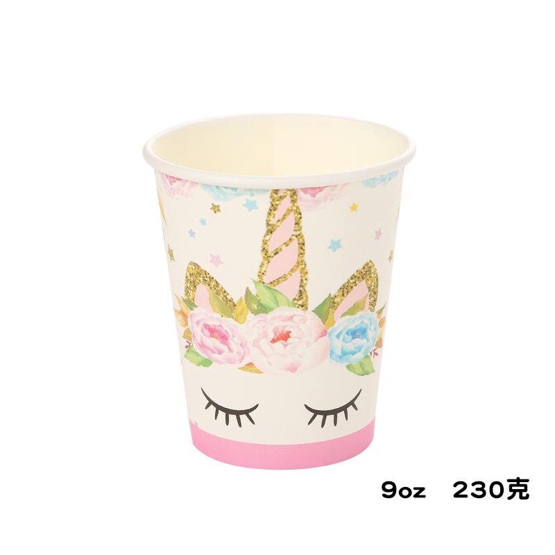 כוסות חד קרן - נייר