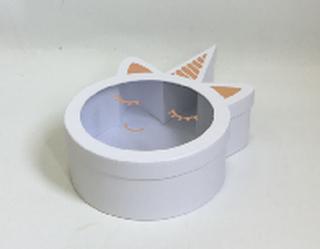קופסה חד קרן לבן מכסה שקוף 39 על 10 על 24.5