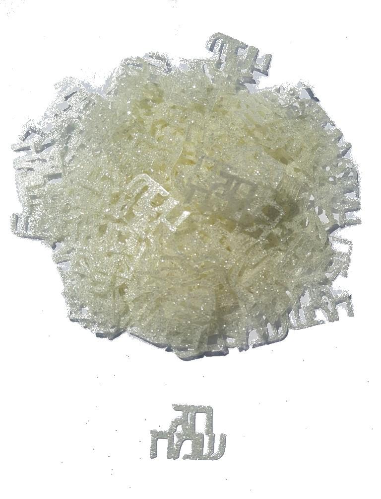 קונפטי גליטר חג שמח לבן פנינה 15 גרם