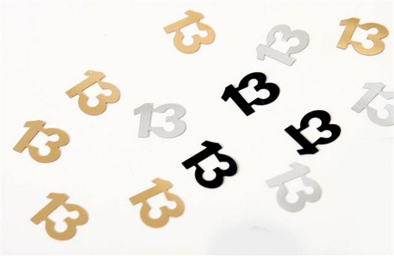 מספר 13 לפיזור על השולחן - קונפטי 13