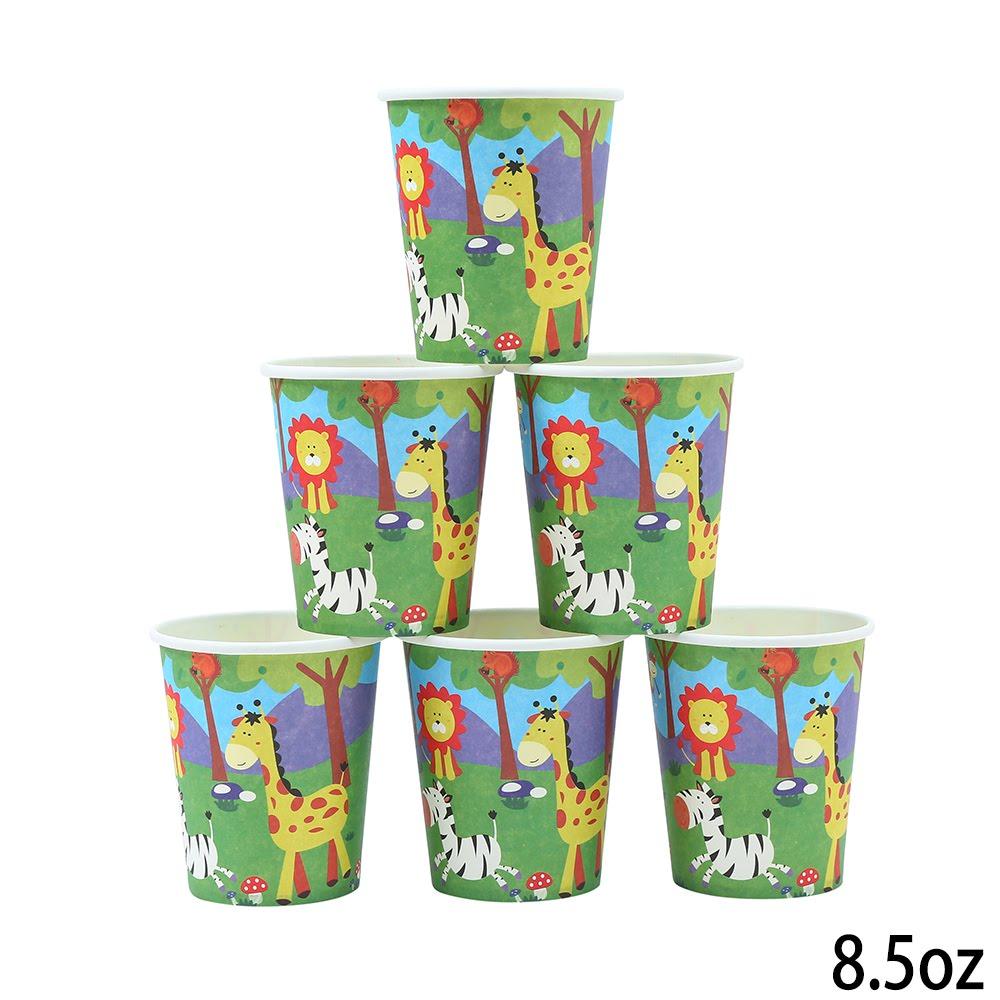 מסיבת ג'ונגל - כוסות נייר