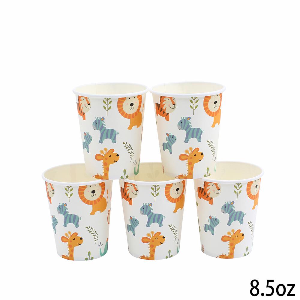 יום הולדת בעלי חיים - כוסות נייר עבות