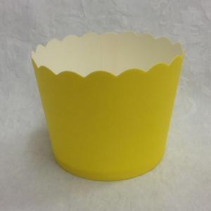 קאפקייקס בינוניים בצבע צהוב
