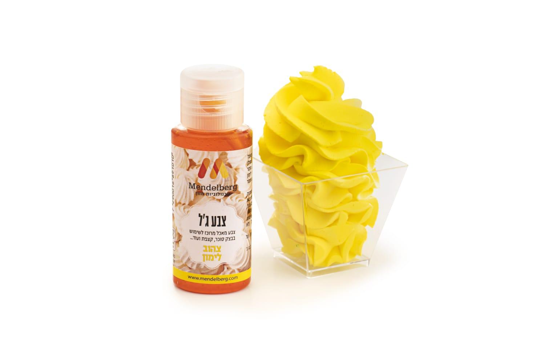 צבע ג'ל בצבע צהוב לימון