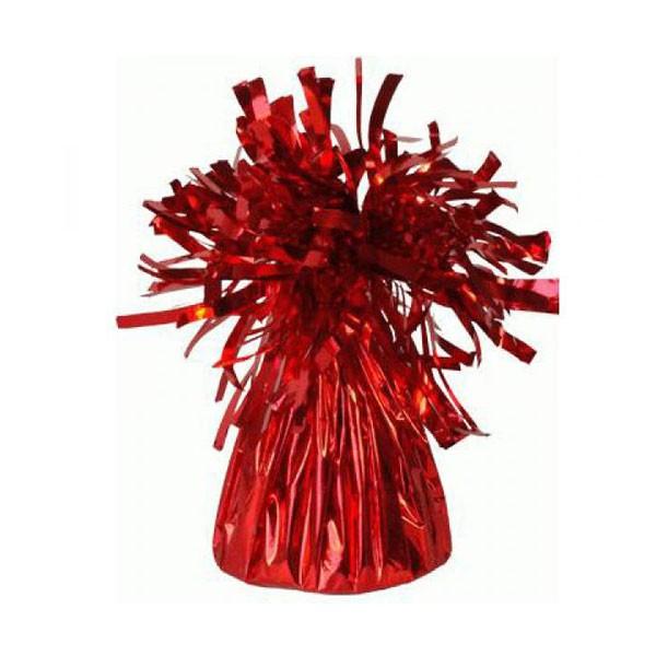 משקולת לבלונים בצבע אדום