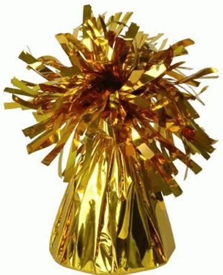 משקולת לבלונים בצבע זהב