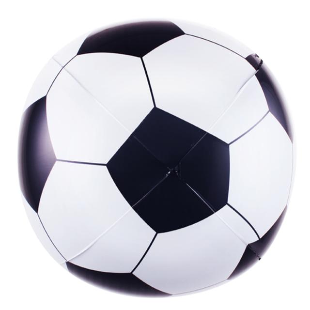 בלון מיילר כדור כדורגל שחור לבן - 18 אינץ