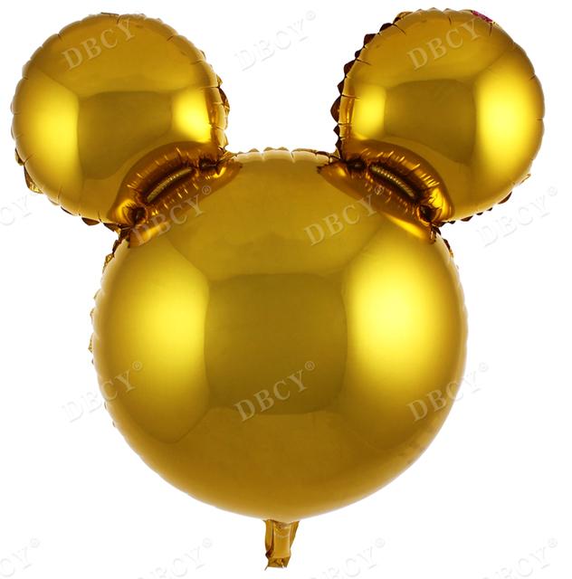 בלון מיילר ראש מיקי מאוס זהב - 25 אינץ