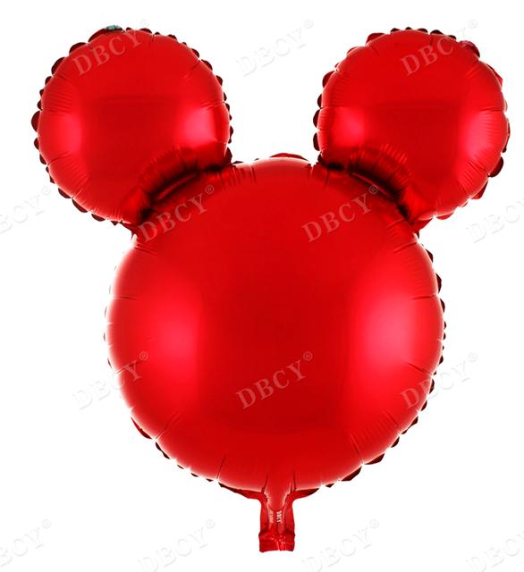 בלון מיילר ראש מיקי מאוס אדום - 25 אינץ