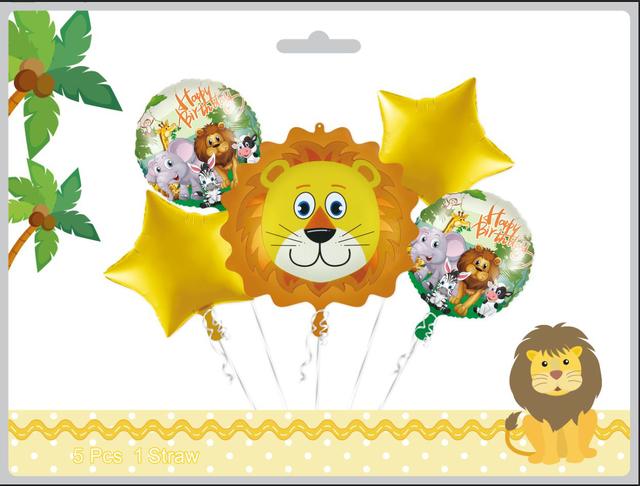 קיט בלונים עם פרצוף אריה