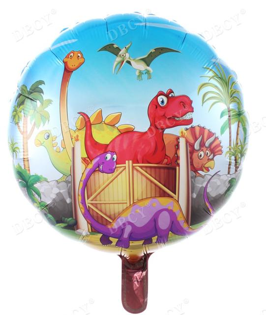 בלון מיילר עגול דינוזאורים - 18 אינץ