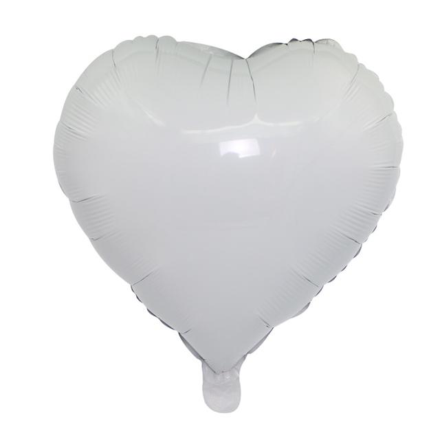 בלון מיילר לב לבן - 18 אינץ
