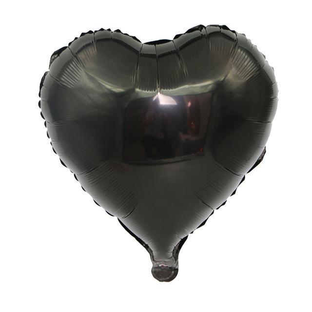 בלון מיילר לב שחור - 18 אינץ