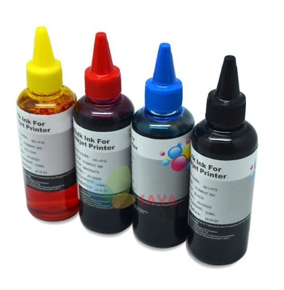 4 בקבוקים מילוי דיו למדפסות CANON-HP צבעוני- חיסכון ענק!!!