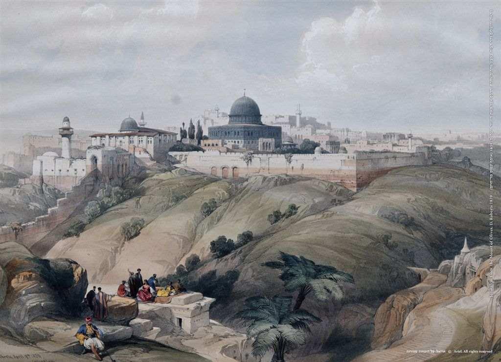 פוסטר נהדר של נוף ירושלים מהר הזיתים
