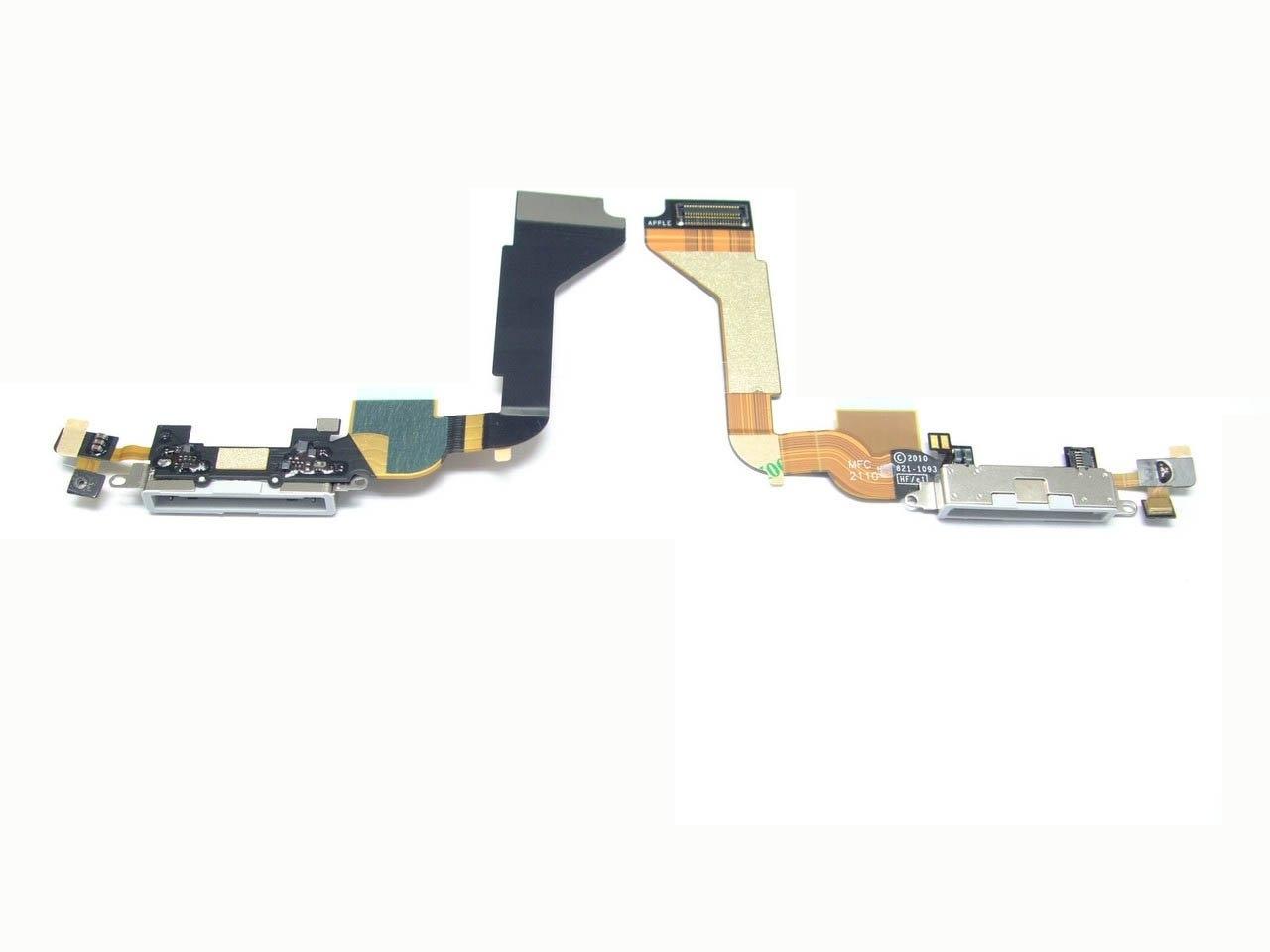 פלט שקע טעינה אייפון 4 שחור/לבן להרכבה עצמית