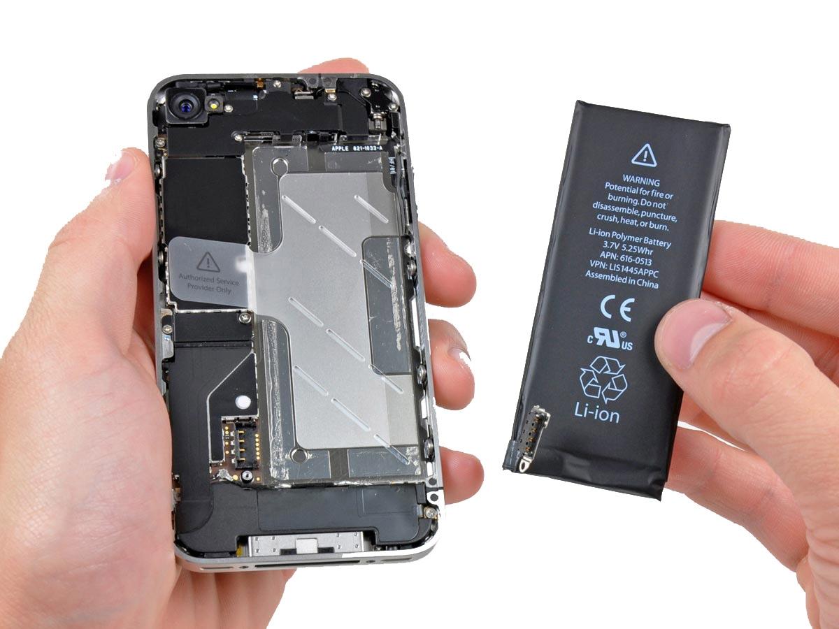 החלפת סוללה מקורית לאייפון 4