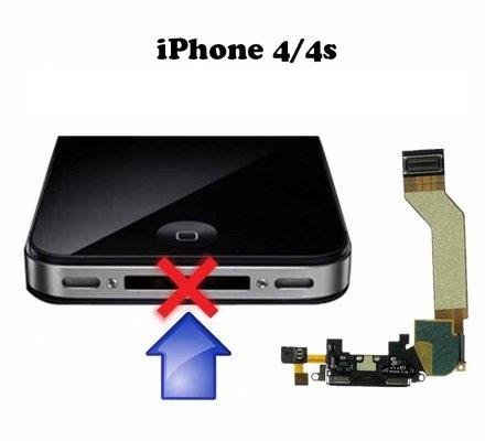 החלפת שקע טעינה באייפון 4/4S