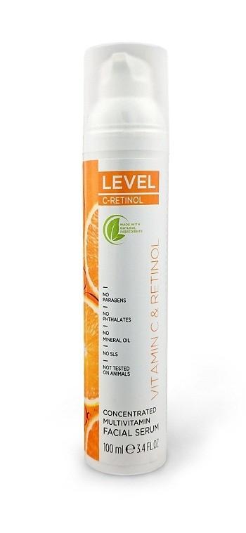 סרום פנים מולטי ויטמין C-RETINOL מרוכז 100 מ
